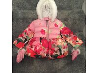 Ted baker coat with mittens age 3-4