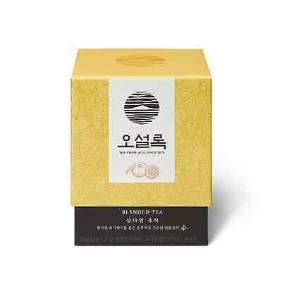 OSULLOC 10 Pyramid Tea Bags Korean Jeju Island Yuja Tea Organic Citron Flavored