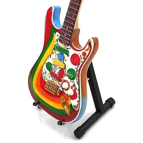 Miniature Guitar BEATLES GEORGE HARRISON Rocky GIFT Memorabilia FREE STAND