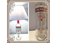 Smirnoff vodka bottle lamp