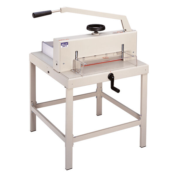 """Guillotine Manual Paper Cutter 3971 Heavy Duty 18.7"""" Wide LED Cutting Guide"""