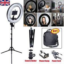 Studio 400W 34cm Photo Video Ring Light + Camera iPhone Holder + 185cm Stand
