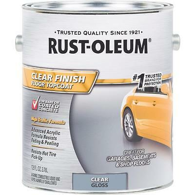 (Rust-Oleum 1 Gal Clear Gloss Finish Topcoat Garage Floor Coating 320202)