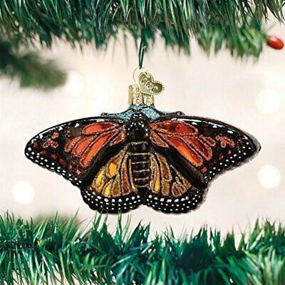 Old World Christmas 12475 Glass Blown Monarch Butterfly Ornament