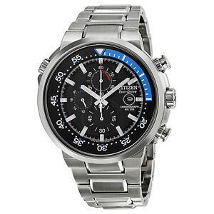 Citizen-Eco-Drive-Endeavor-Black-Dial-Stainless-Steel-Mens-Watch-CA0440-51E