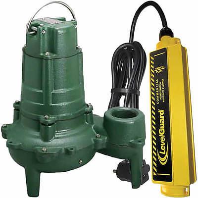 Zoeller N267 - 12 Hp Cast Iron Submersible Sewage Pump 2 W Levelguardtr...