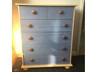 CHEST OF DRAWERS BLUE FRONT SUIT BOYS ROOM