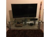 Solid glass TV unit