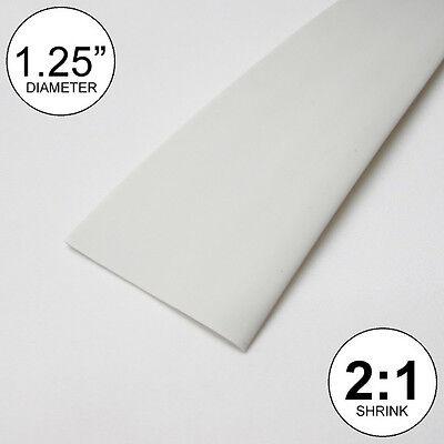1.25 Id White Heat Shrink Tube 21 Ratio 1-14 Wrap 10 Feet Inchftto 30mm