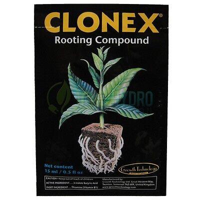 Clonex Rooting Compound Gel Propagation Root Cloning Hydroponics 15 ML