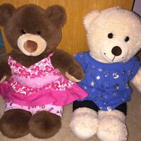 Two excellent condition super cute build a bears