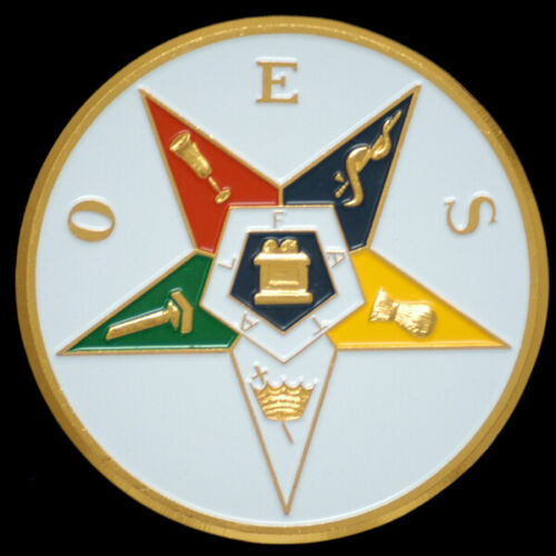 """Order of the Eastern Star OES  3"""" Auto Tag-New!"""