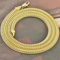 24 Inch 18k Gold Stylish Snake Chain Necklace Mens Womens New