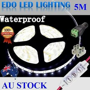 12V-Cool-White-5M-3528-SMD-300-LED-Strips-Led-Strip-Lights-Waterproof-Dimmer