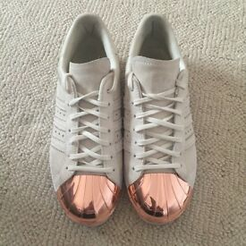 Adidas Rose Gold Metal Toe Superstars size UK 5