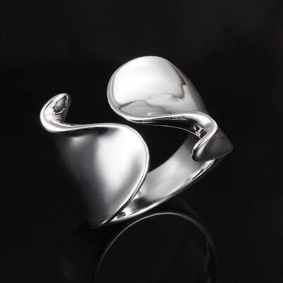 Silver Fashion Wedding lady Cute women open Rings Jewelry cute nice noble 925