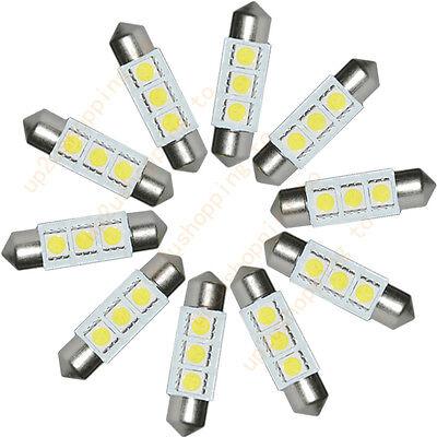 5PCS  White 36MM 3 LED 5050 SMD Festoon Dome Car Light Interior Lamp Bulb 12V
