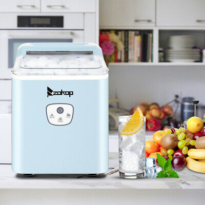 Portable Ice Maker Machine Countertop 26lbs24h Self-cleaning W Scoop Blue