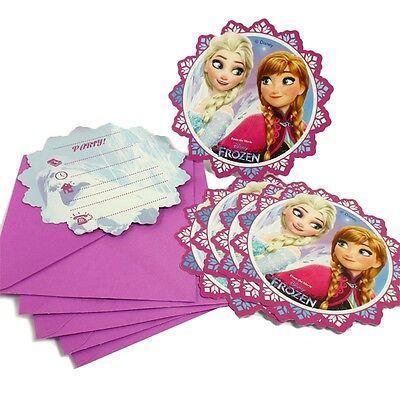 en Einladungskarten zum Kindergeburtstag, 6er Pck (Elsa Geburtstag Einladungen)