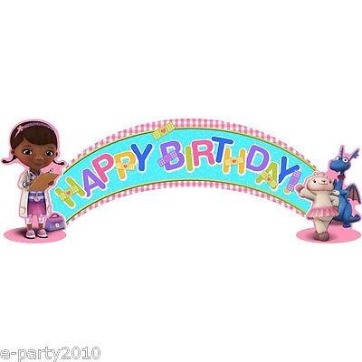 Doc Mcstuffins Banner (DOC MCSTUFFINS HAPPY BIRTHDAY BANNER ~ Party Supplies Decorations Stuffy)