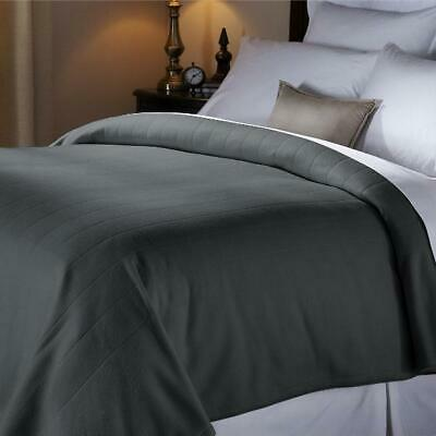 Queen Size Electric Heated Fleece Acorn Blanket Dual Controls 10 Heat Setting US