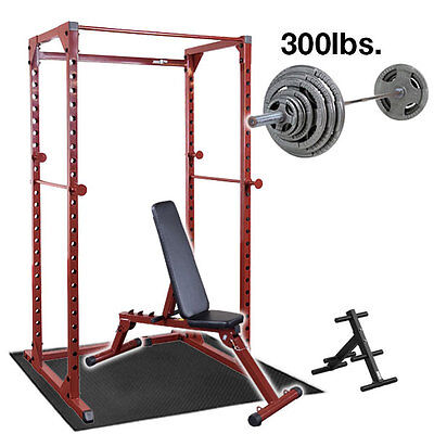 Best Fitness Power Rack Package with Bench, Weight Set, BFPR100-PACK2 Home