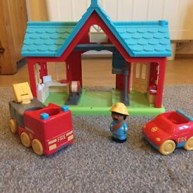 Happyland Fire Station full working order