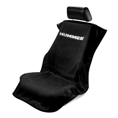 Seat Armour Front Car Seat Cover For Hummer - Black Terry Cloth