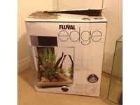 Fluval Edge fish tank 46L gloss black with box and accessories