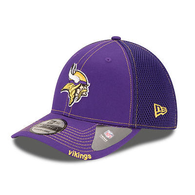 Minnesota Vikings New Era 39Thirty Neo Nfl Stretch Fit Flex Mesh Back Cap Hat