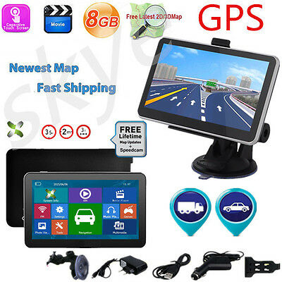 7 Zoll LKW PKW Auto GPS Navi Navigationsgerät Navigation Europa Karten poi MP3