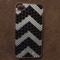 Black and white iPhone 4 case
