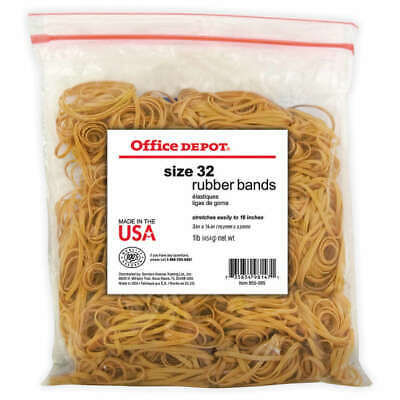 Office Depot Brand Rubber Bands 32 3 X 18 Crepe 1-lb Bag