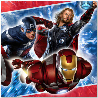 Avengers  Birthday Party Supplies Large Lunch Napkins](Avengers Birthday Party Supplies)