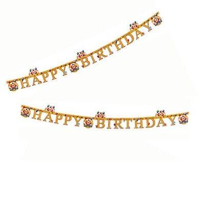 B Day Ballons (Happy B.day Clown Zirkus Circus Ballon Girlande Deko 165cm Geburtstag Party)