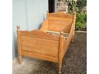 Antique Pine Cot Bed