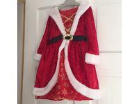 Santa Christmas dress 2-3 years