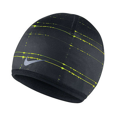 NEW Nike Run Cold Weather Reversible Beanie Black 632248-010 Adult Unisex  Cap 0e22270c34f0