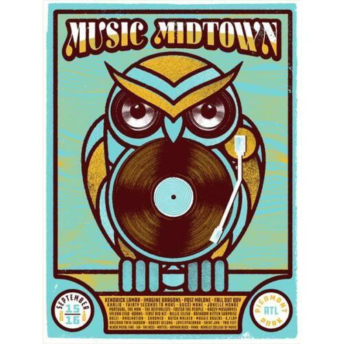 Music Midtown Poster Atlanta GA Limited Edition Piedmont Park, New