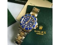 Binetal sub blue face blue bezel unfading mens automatic watch rolex boxed perfect gift