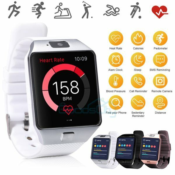 2021 Waterproof Bluetooth Smart Watch Phone Mate For iphone IOS Android Black