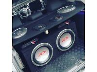 Alpine subwoofers & JBL speakers and Amps