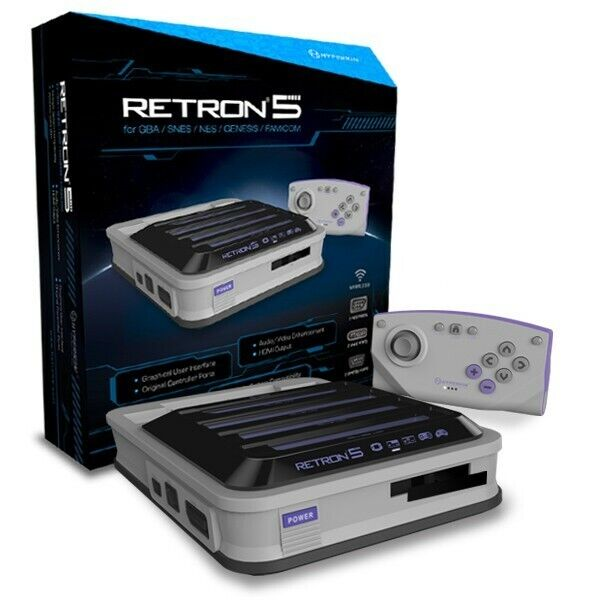 RetroN - RetroN 5 Konsole #grau für SNES NES GB Mega Drive Spiele NEU&OVP
