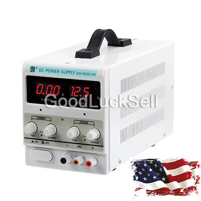 Lab Adjustable Dc Power Supply Precision Variable Digital Voltage 0-10a 0-30v Us