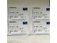 No Man's Land 4 tickets