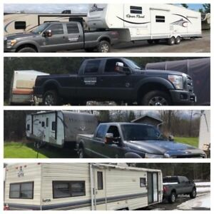 Camper Trailers & Equipment Float Delivery Service.