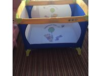 Winnie the Pooh travel cot