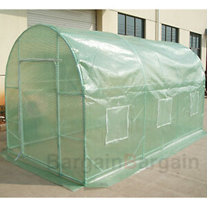 Large Arch Roof 3 M Garden Greenhouse Green Hot Plant House Shed Storage PE Leno