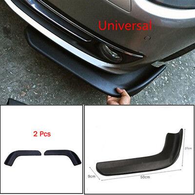 2X Universal Auto Front Shovel Car SUV Racing Bumper Splitter Spoiler Accessory