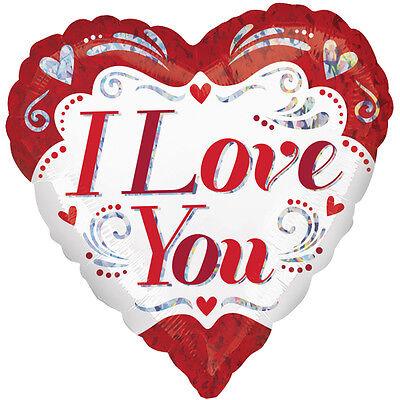 I Love You Glitzer - Ø 45 cm Liebe Ballon NEU (I Love You Ballons)